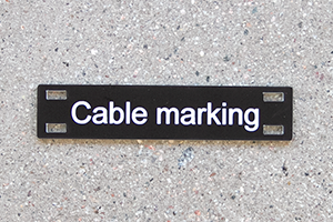 Engraved Cable Marks
