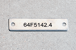 Engraved Stainless Steel Cable Marking