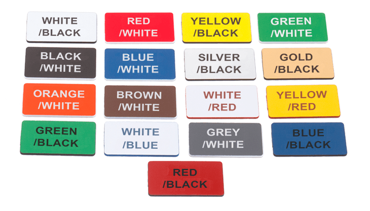 Engraved Signs Colours