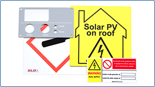 Printed plastic safety signs